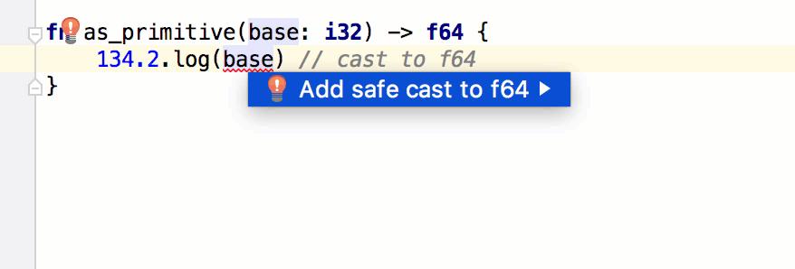 Numeric type cast