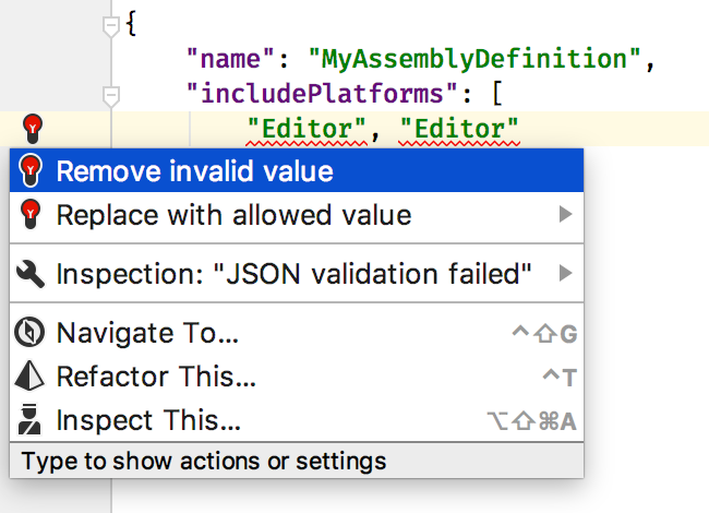 JSON quick fix
