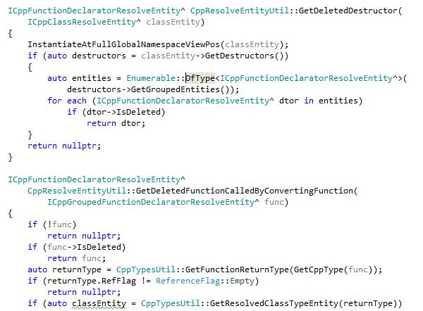 C++/CLI navigation