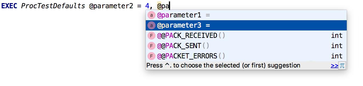NamedParamCompletion