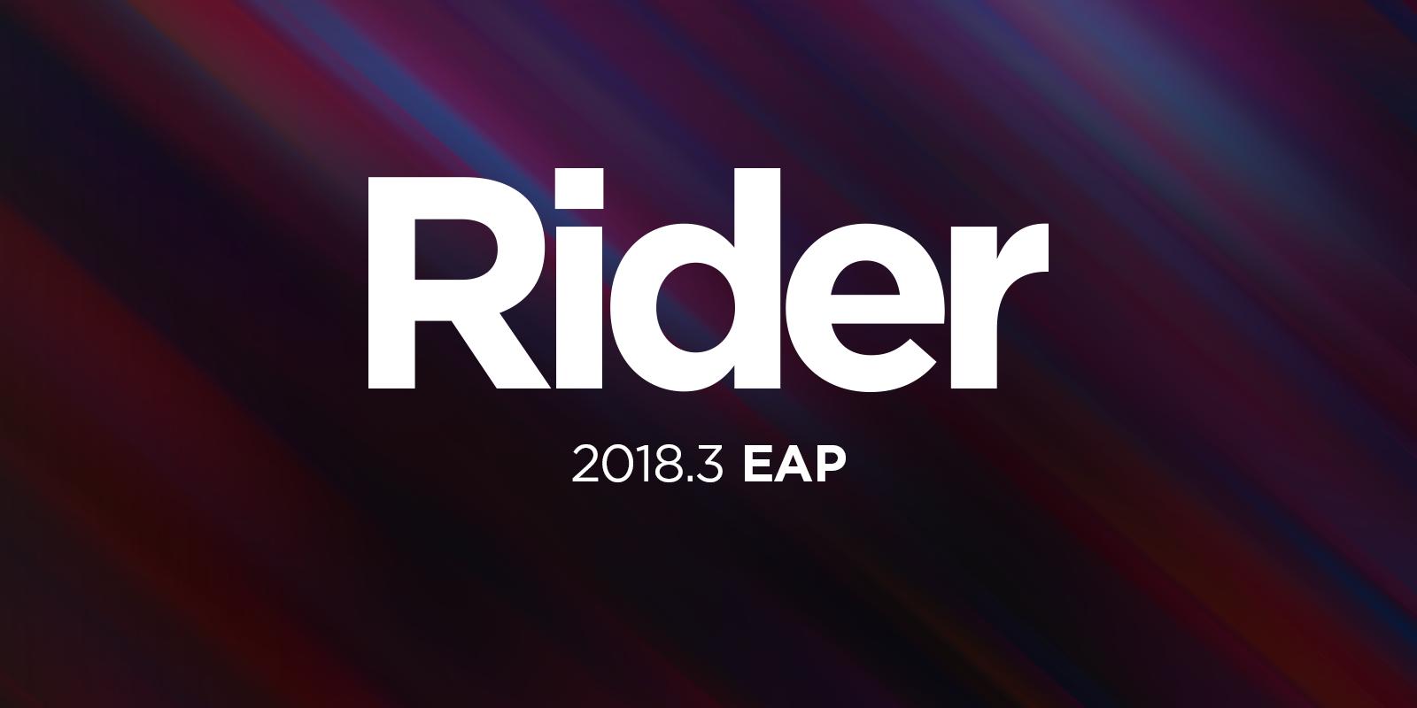 Rider 2018.3 EAP