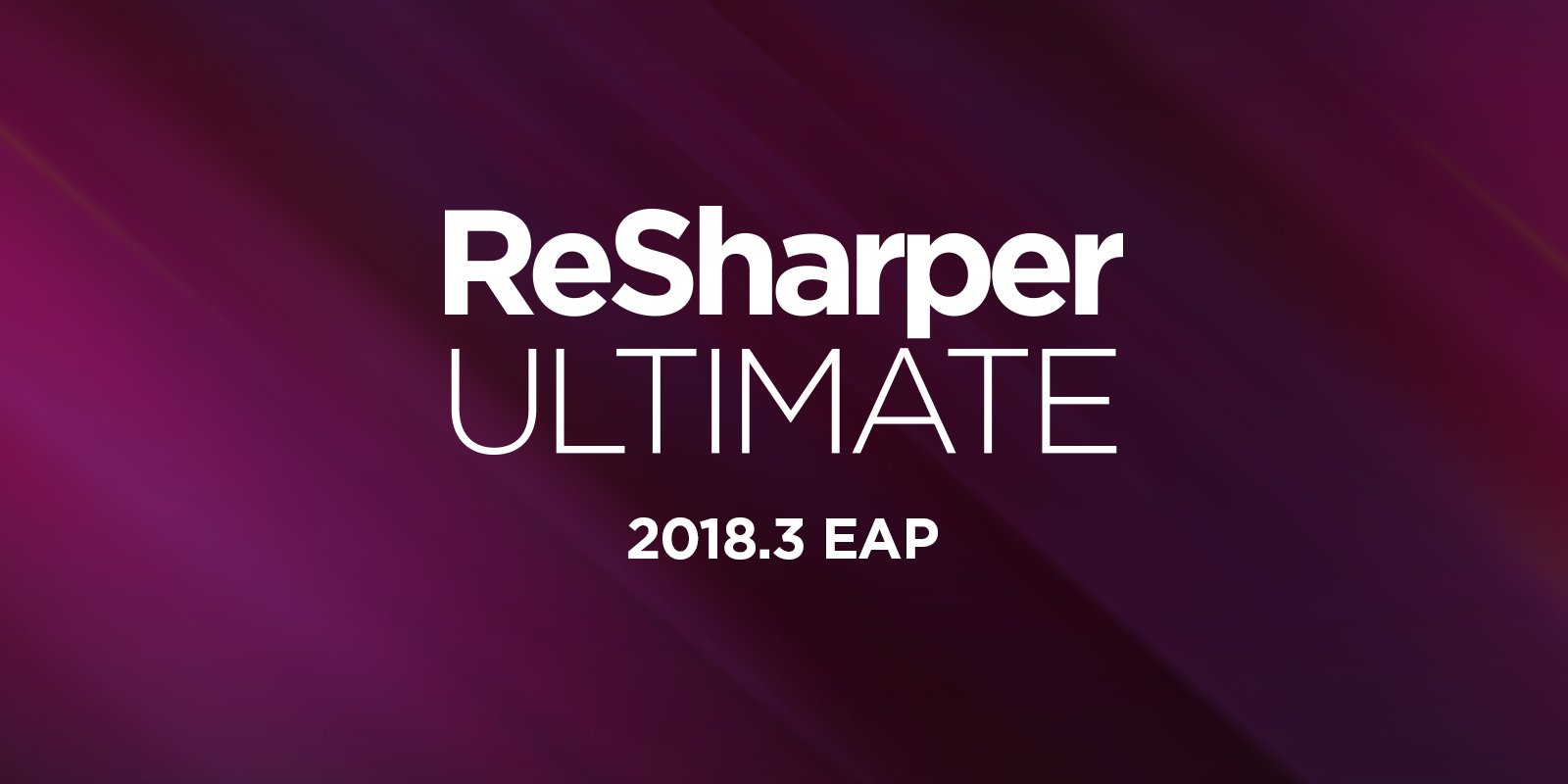 ReSharper Ultimate 2018.3 EAP