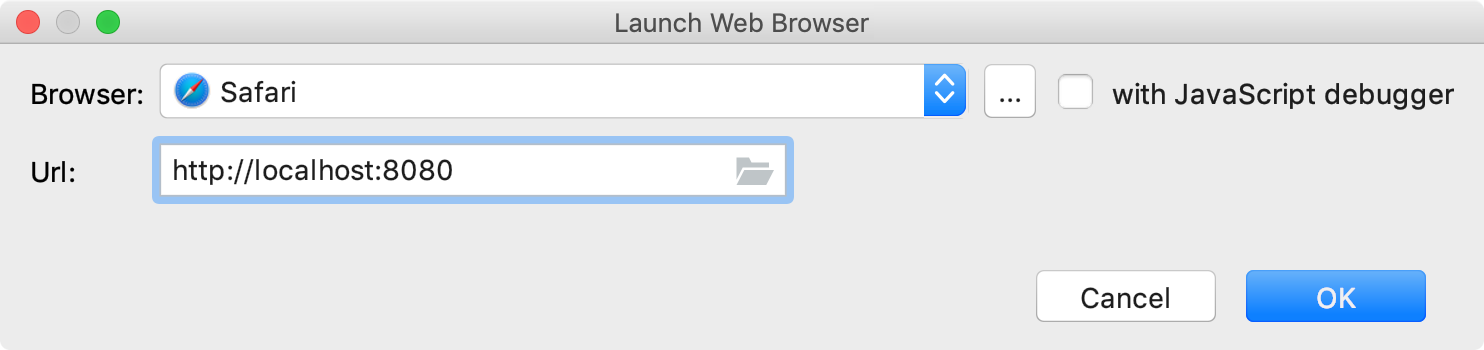 Launch browser action