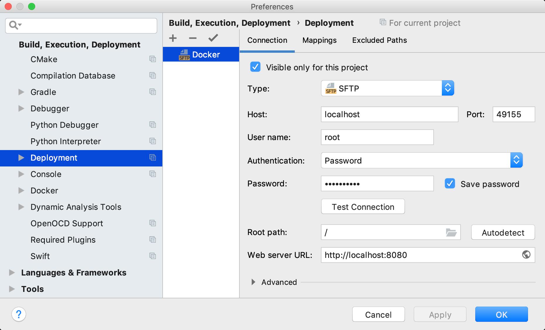 Remote host preferences