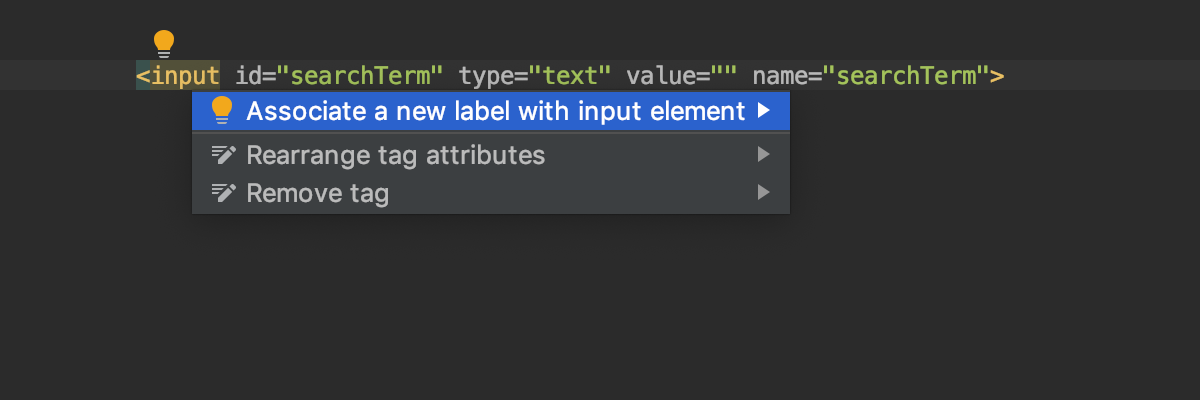 Add a label for input and textarea elements