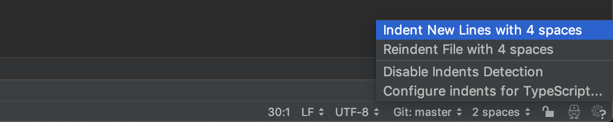 Configure indentation