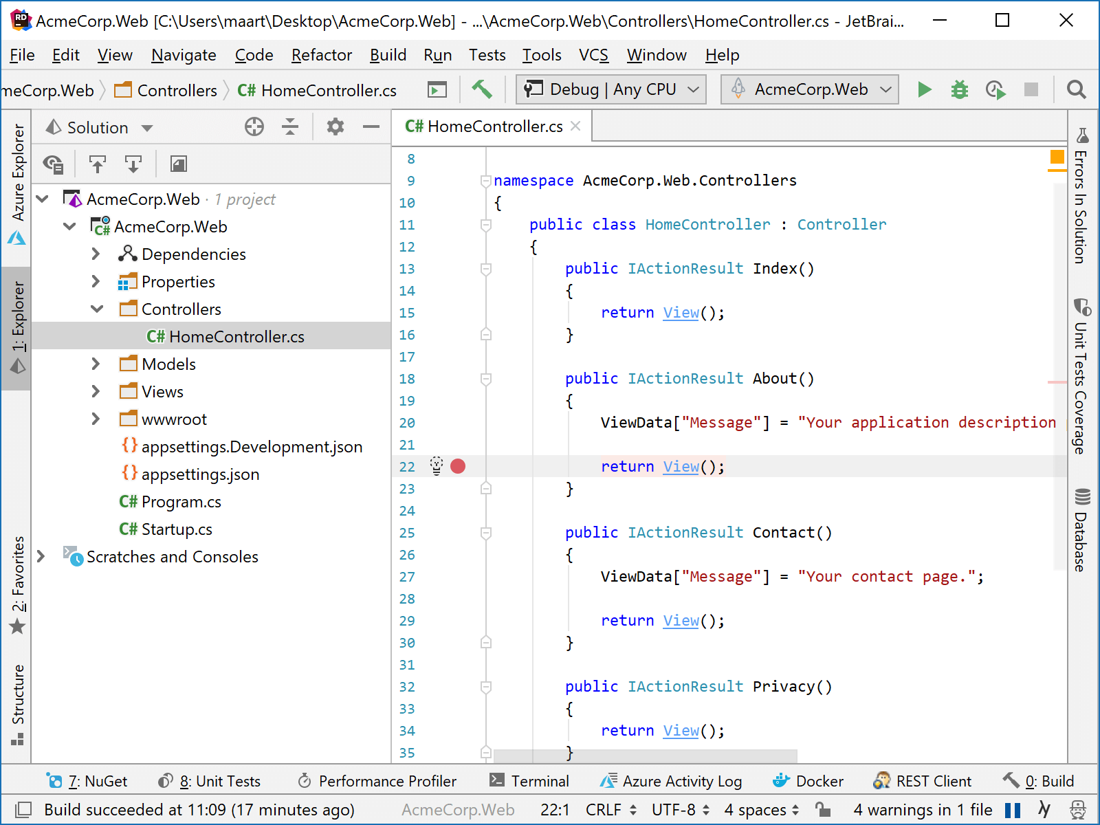 Attach debugger to remote process in Rider and inspect variables