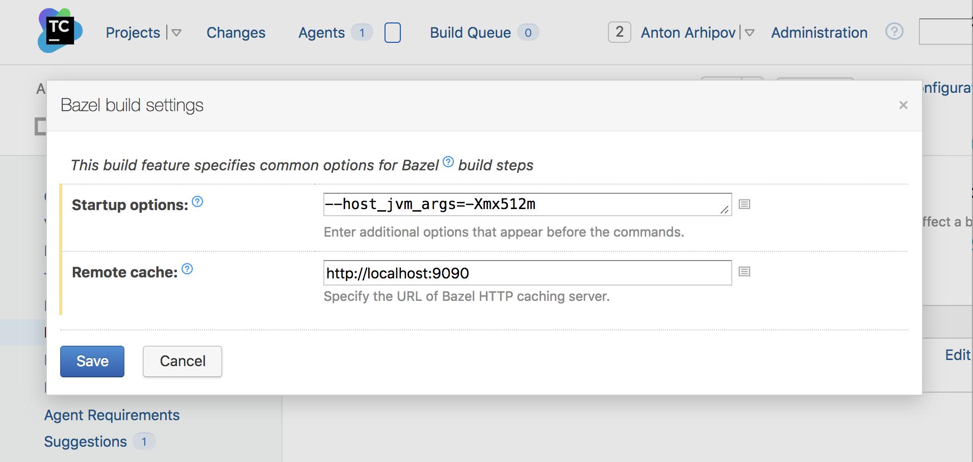 bazel-build-feature