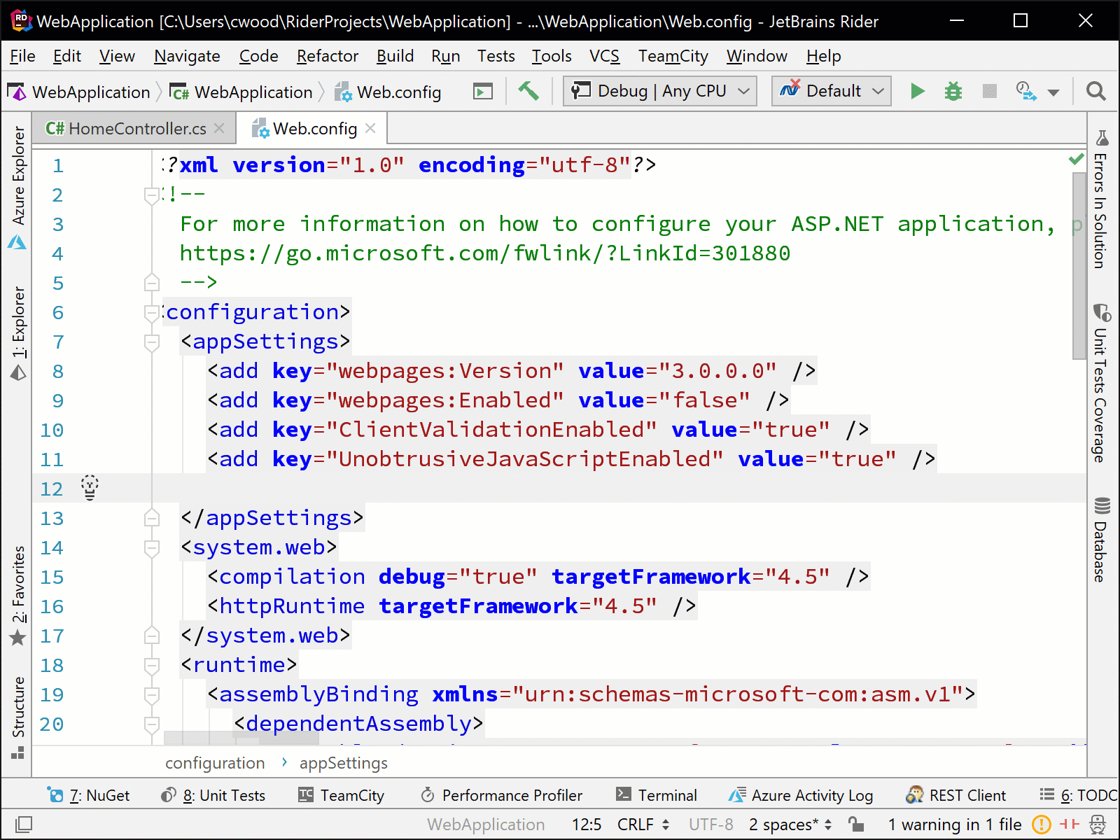 Code Completion for Config Files