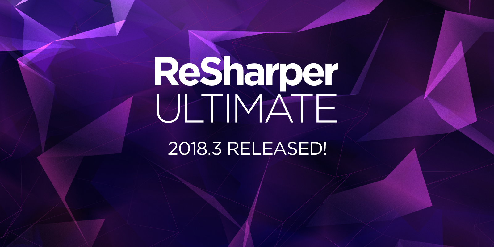 ReSharper Ultimate 2018.3 released