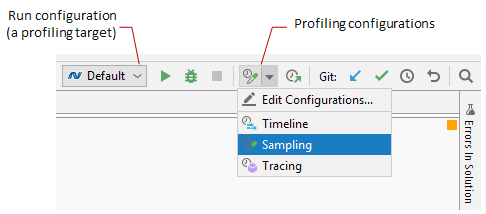 Profiling configuration in Rider