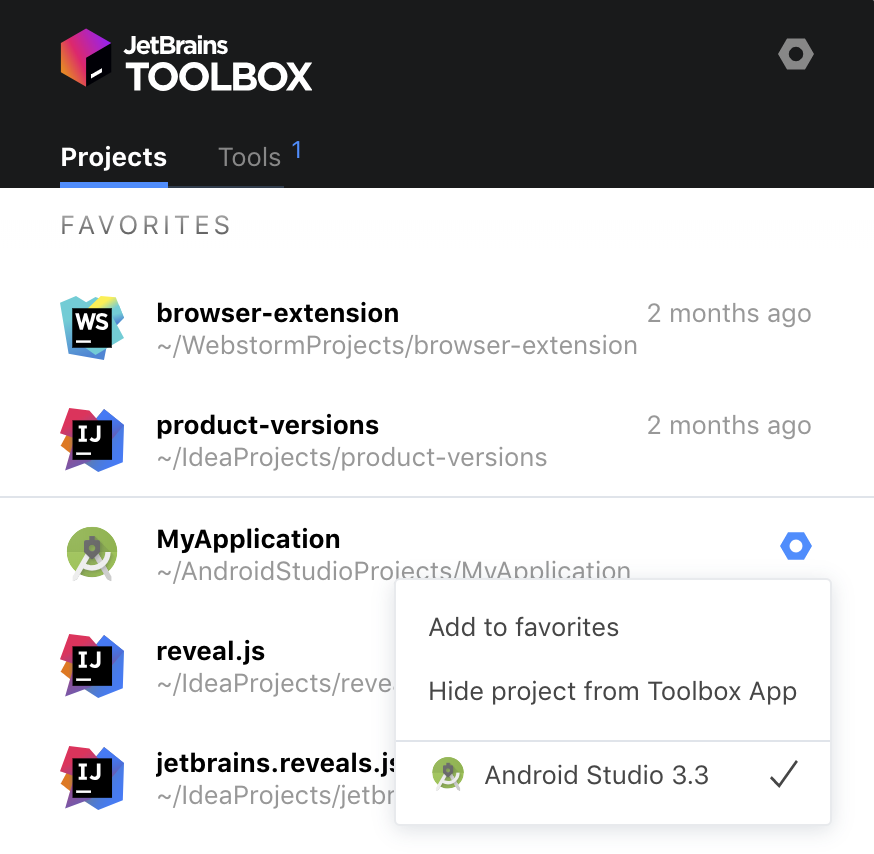 Projects in Toolbox App 1.13