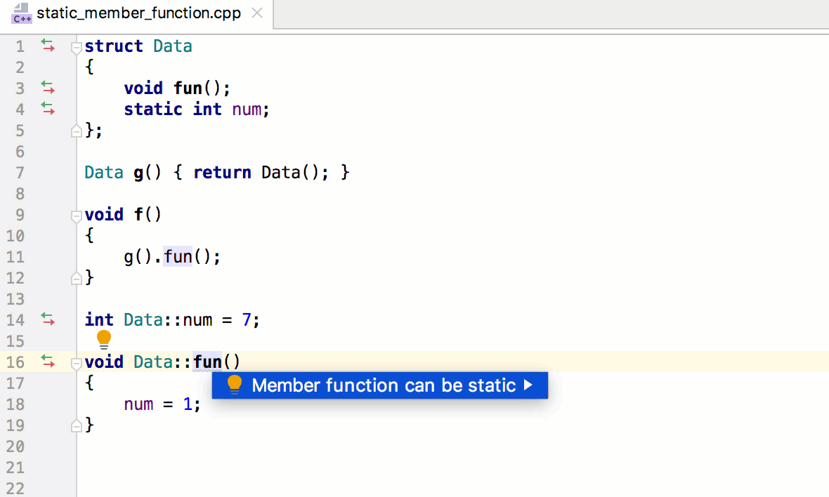 Member function can be static