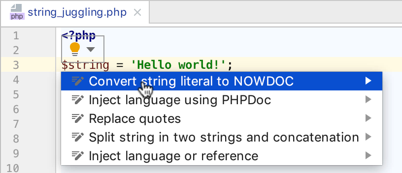 string-to-nowdoc