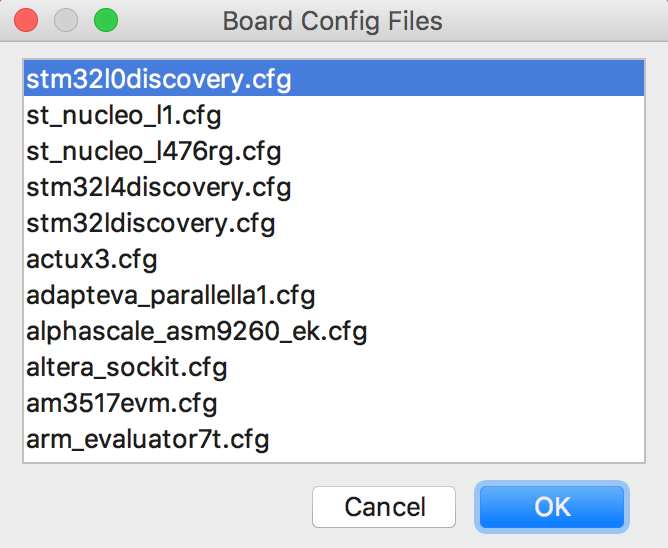 Select Board Config