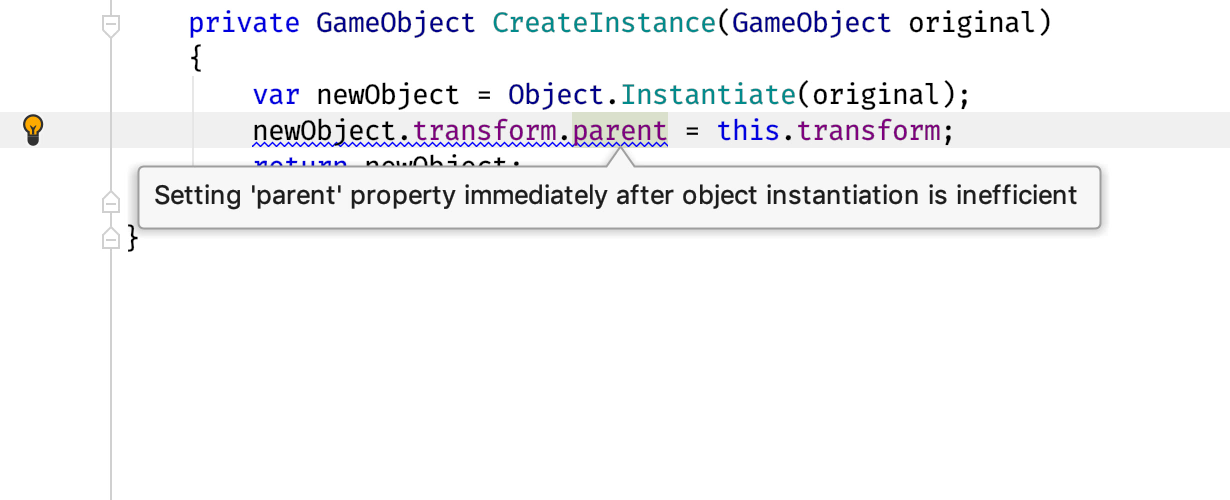 Combine setting parent with object instatiation