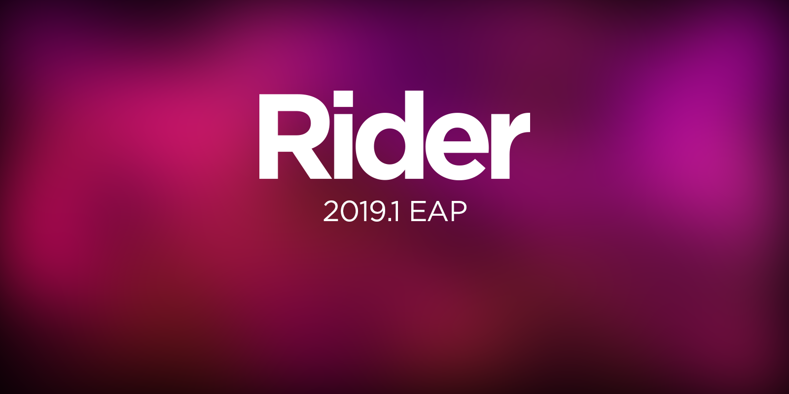 Rider 2019.1 Kicks off its Early Access Program!