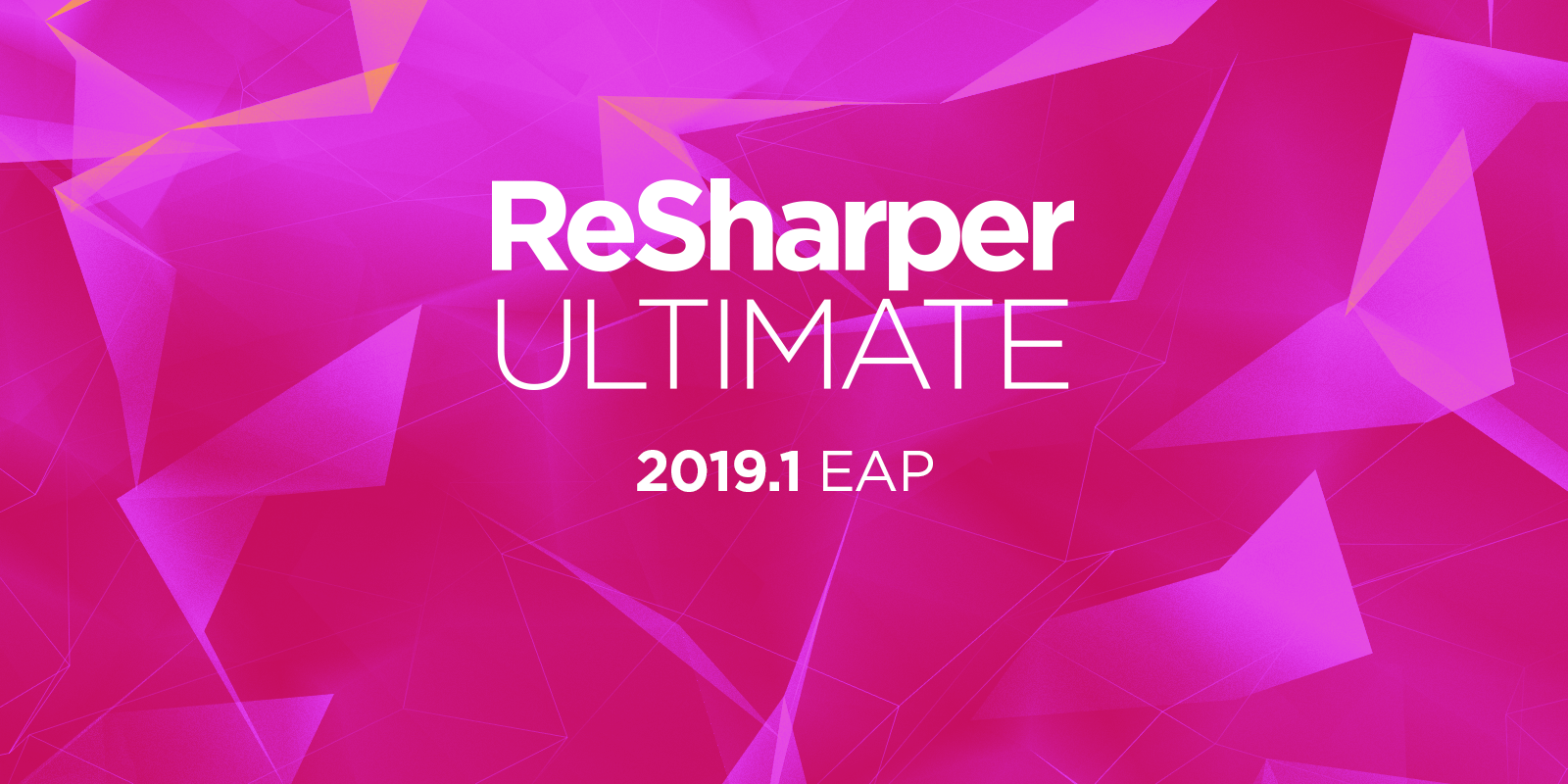 ReSharper Ultimate Starts its Early Access Program for 2019.1!