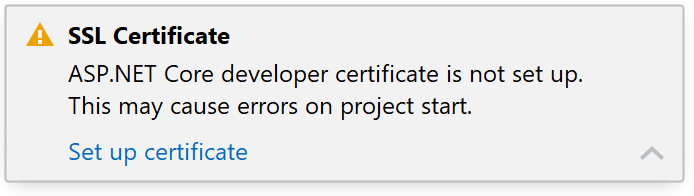 Set up ASP.NET developer certificate / IIS self-signed certificate