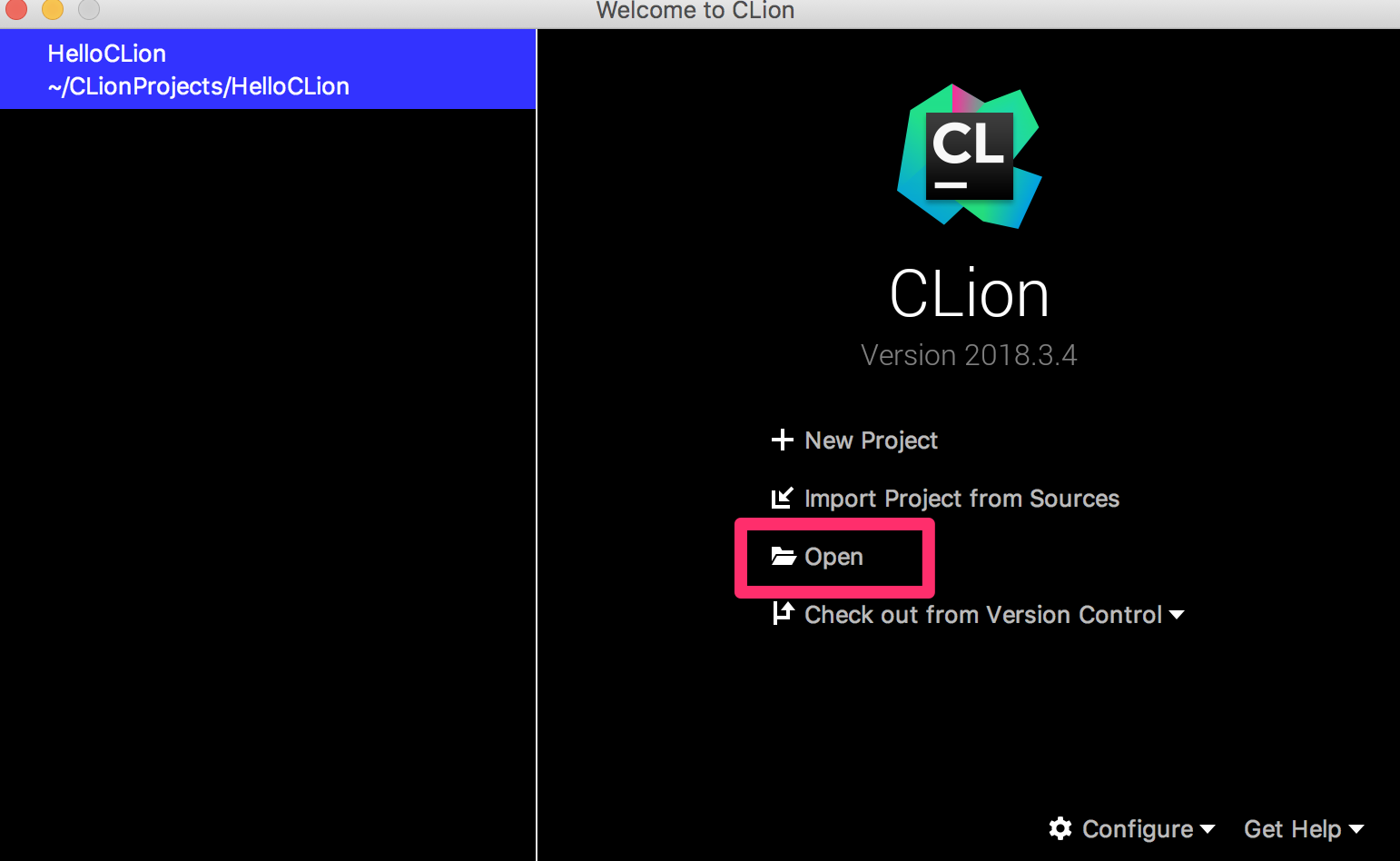 Welcome_to_CLion