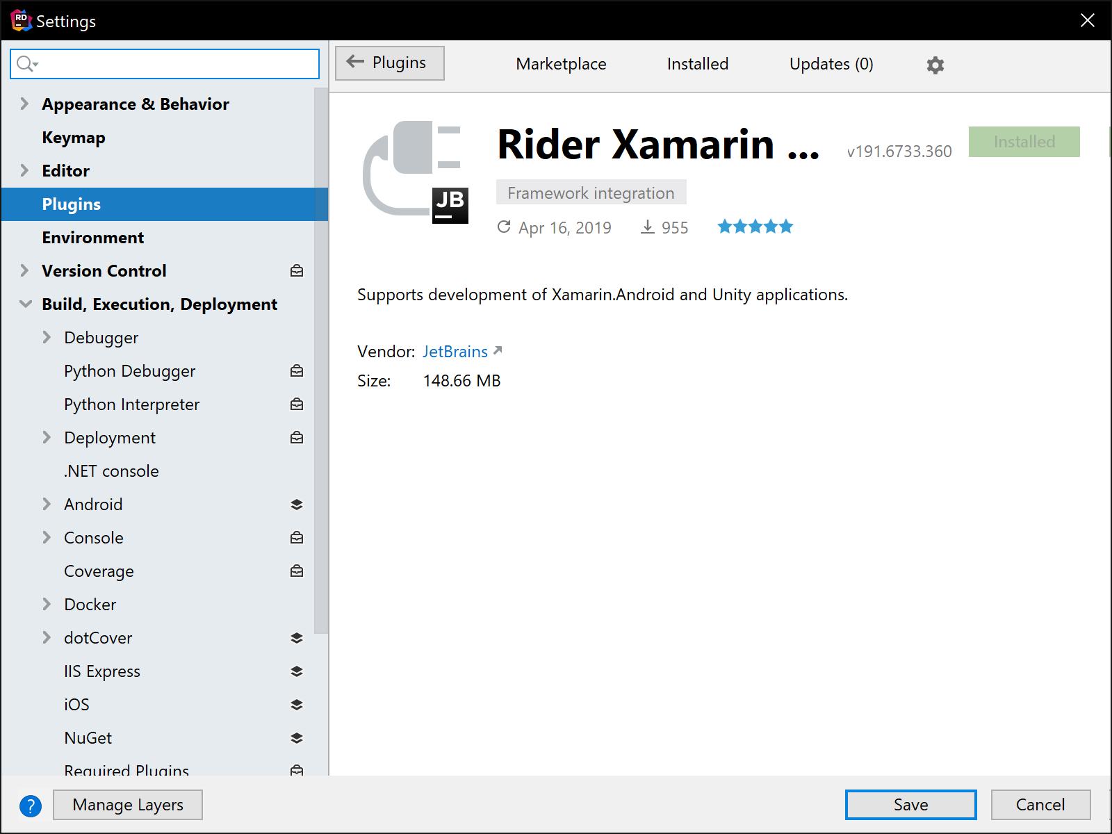 Rider Xamarin Plugin Install