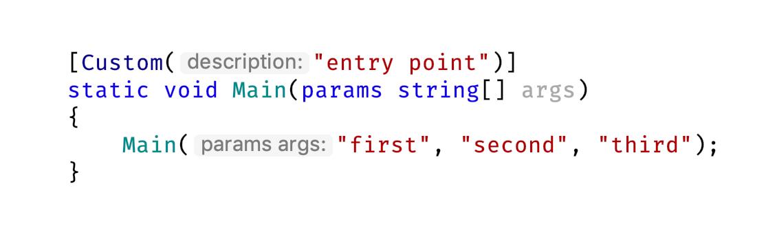 Parameter name hint