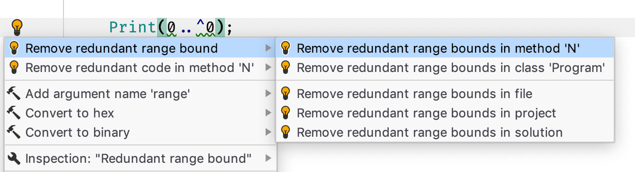 Remove redundant range bounds