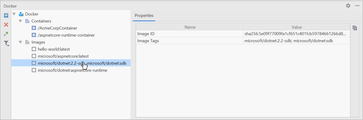 Inspect a Docker image