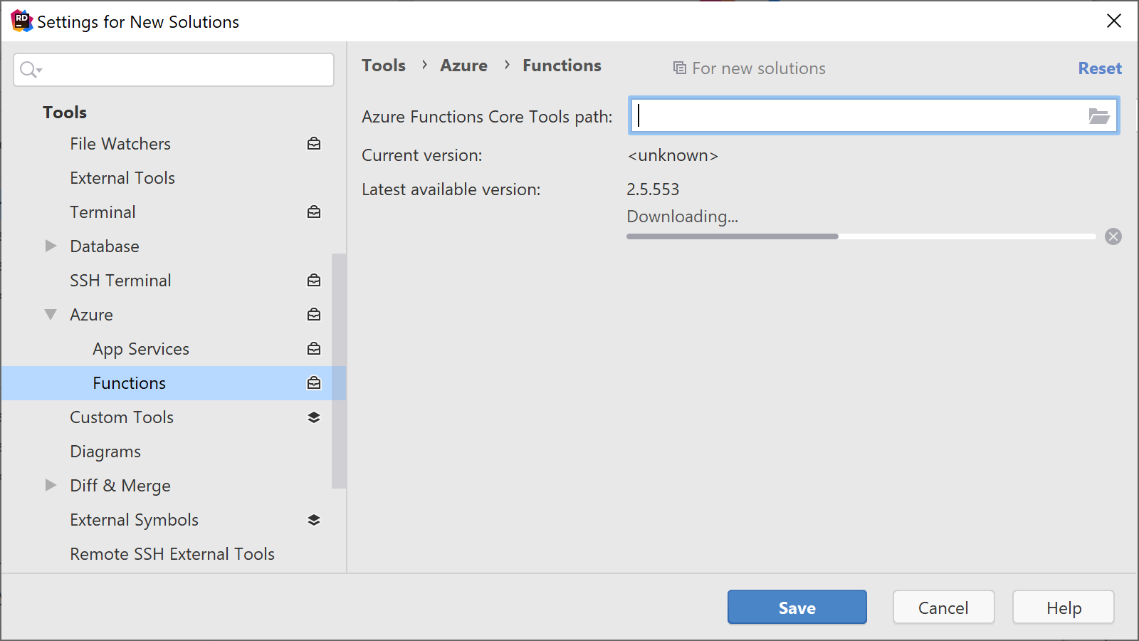 Manage Azure Functions Core Tools