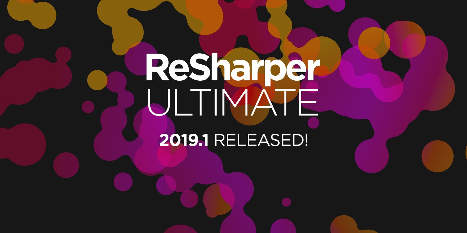 ReSharper Ultimate 2019.1 est maintenant disponible