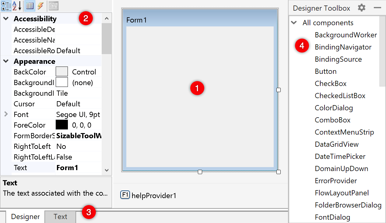 Designing Windows Forms