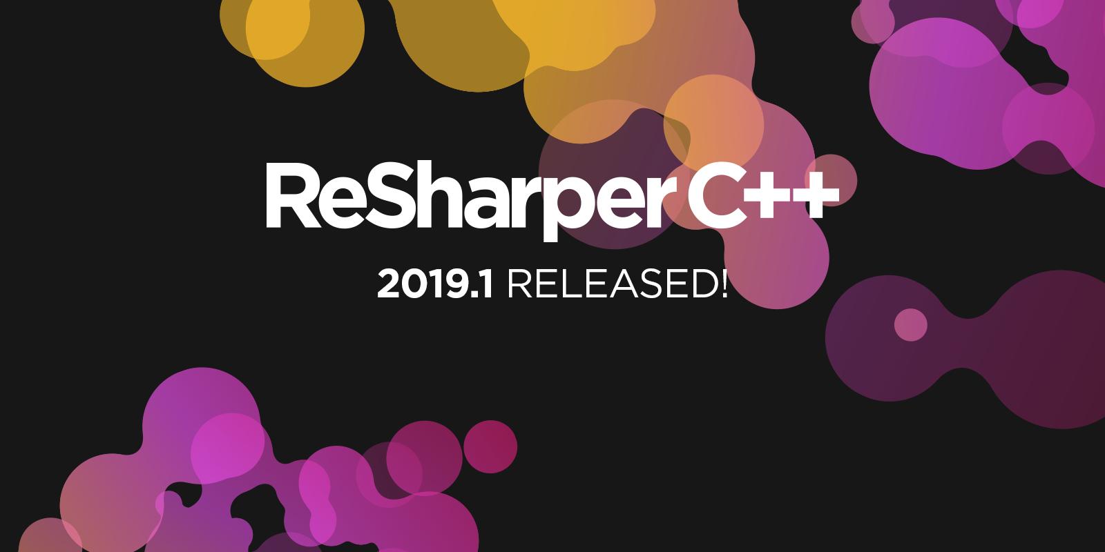 ReSharper 2019.1 release