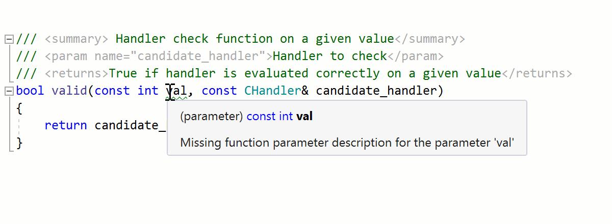 XML documentation generation