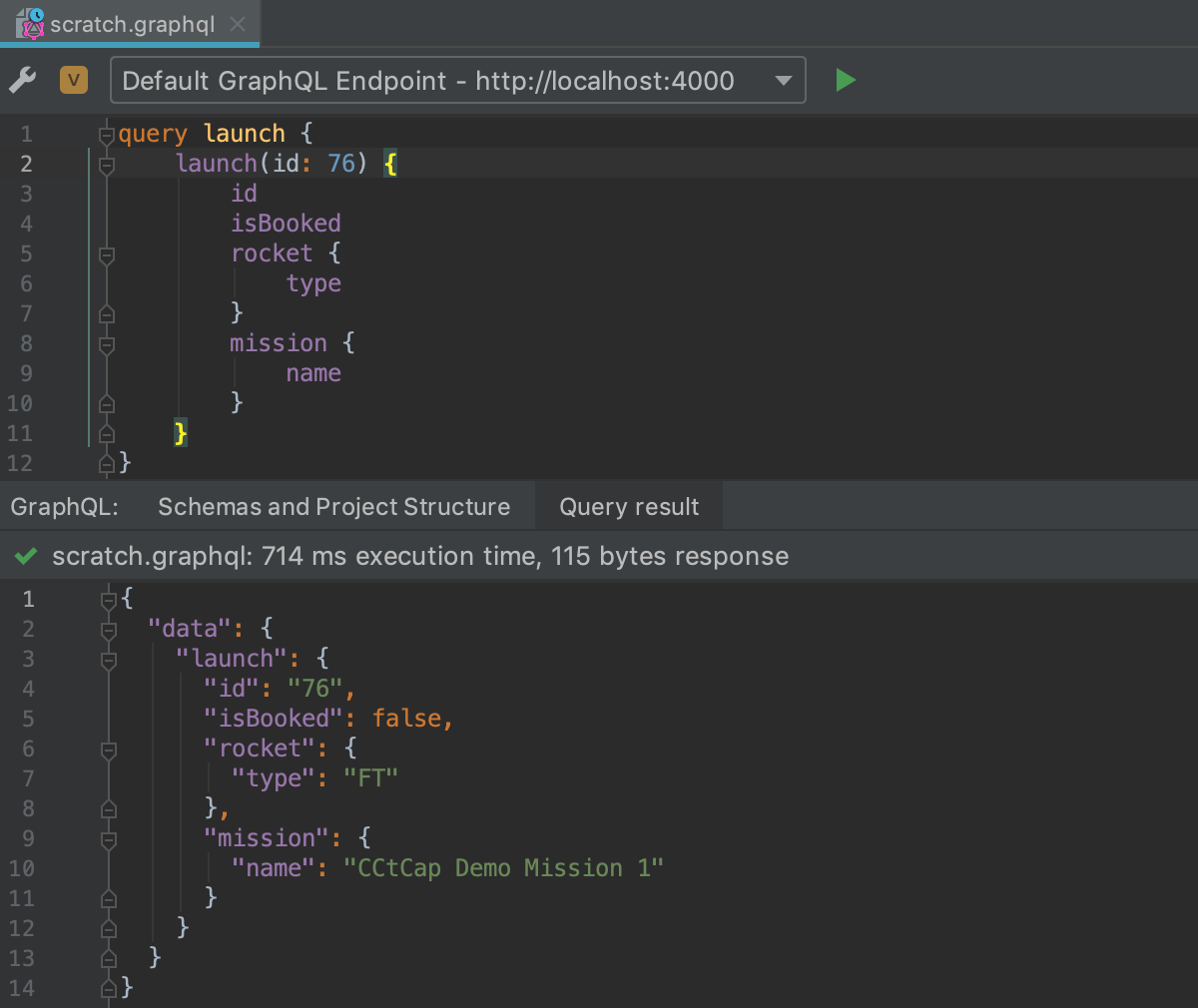 Run GraphQL query