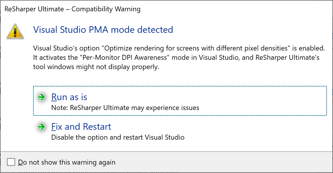 ReSharper helps improve per-monitor DPI awareness