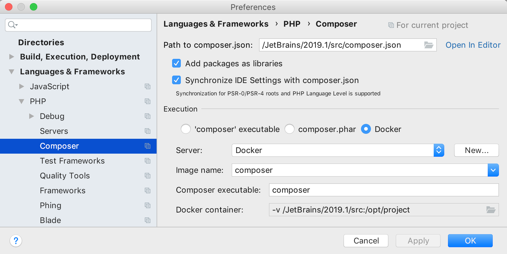 composer-via-docker
