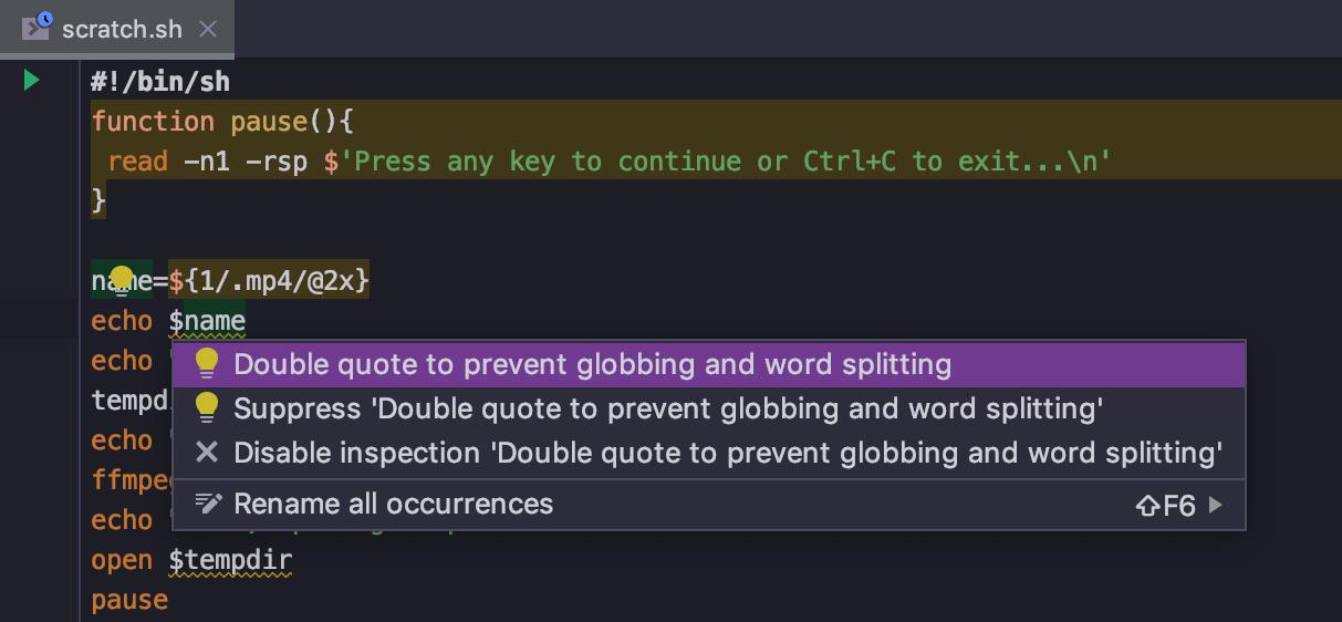 Shell Script support