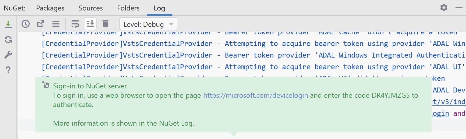 Native cross-platform NuGet credential provider for Azure Devops/Artifacts in Rider