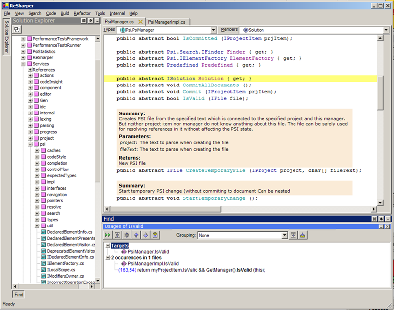 The unreleased ReSharper 2.0 IDE