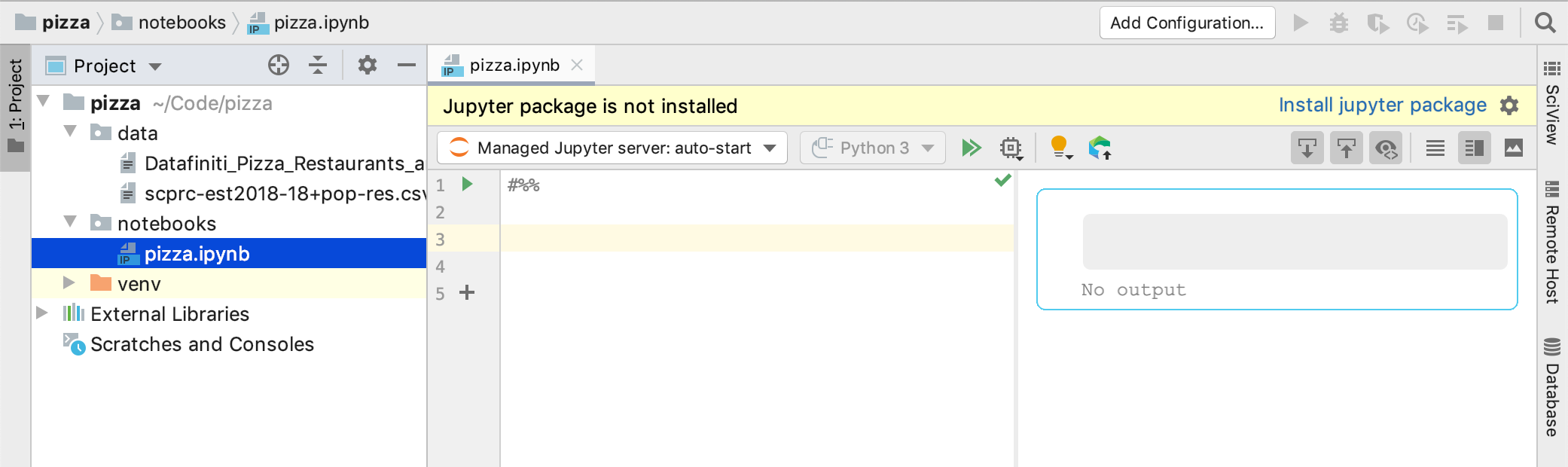 Install Jupyter package