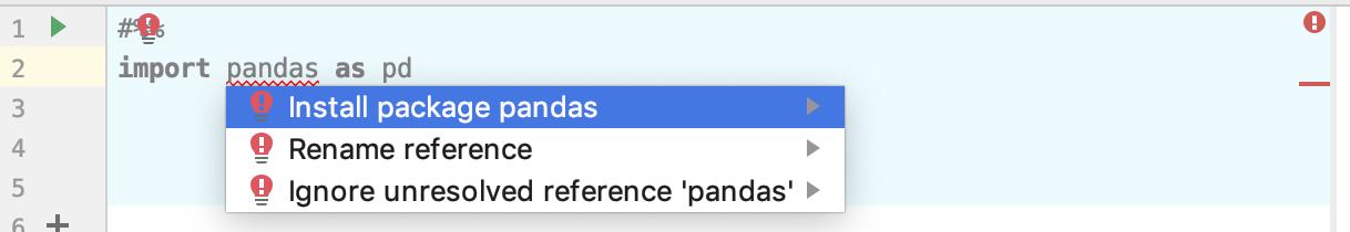 Install Pandas