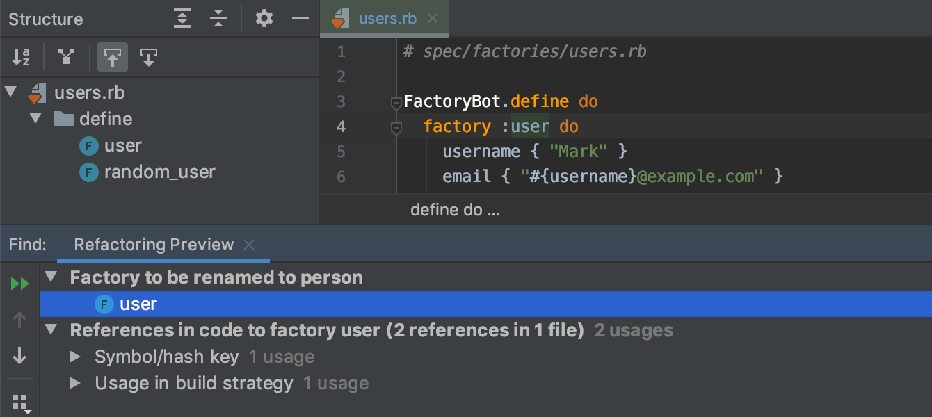 Factory bot rename refactoring