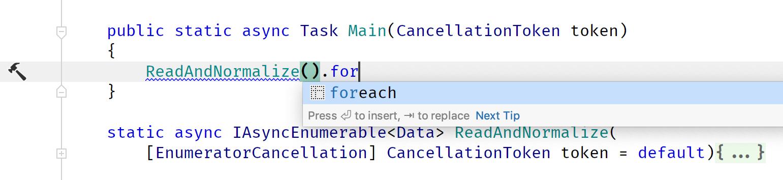 ForEach Postfix Template