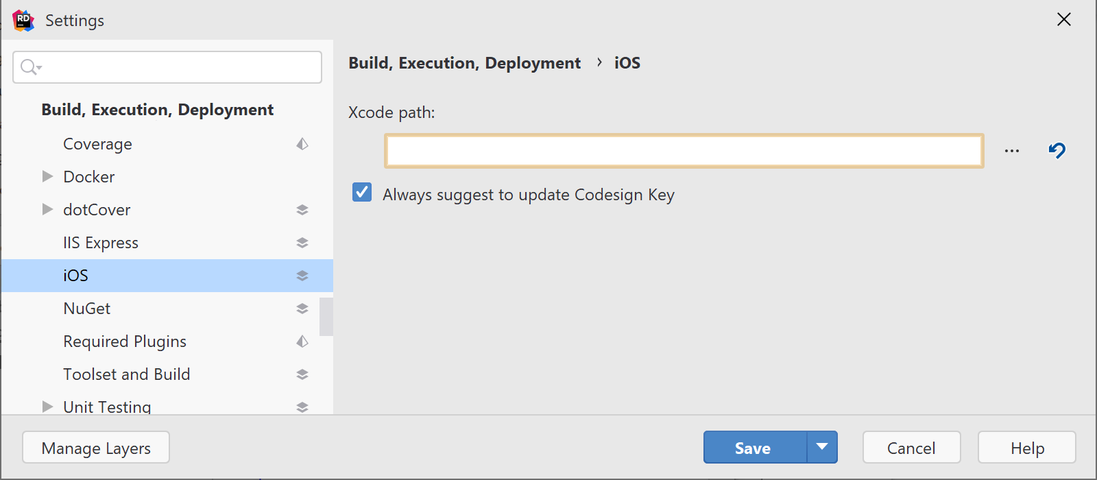 Configure path to Xcode for iOS development