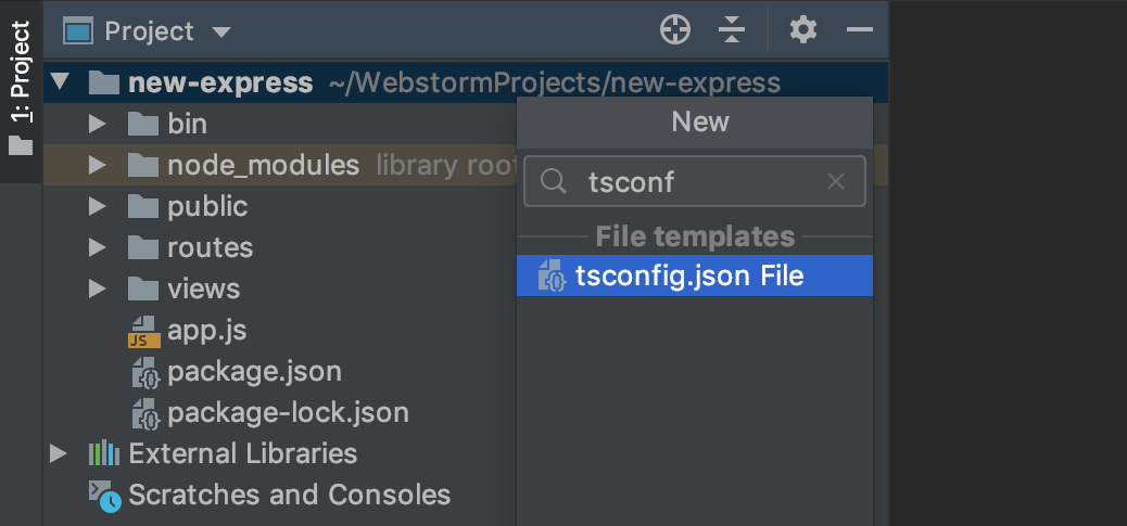 Add tsconfig.json