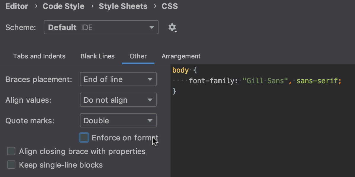 Quote style configuration in CSS