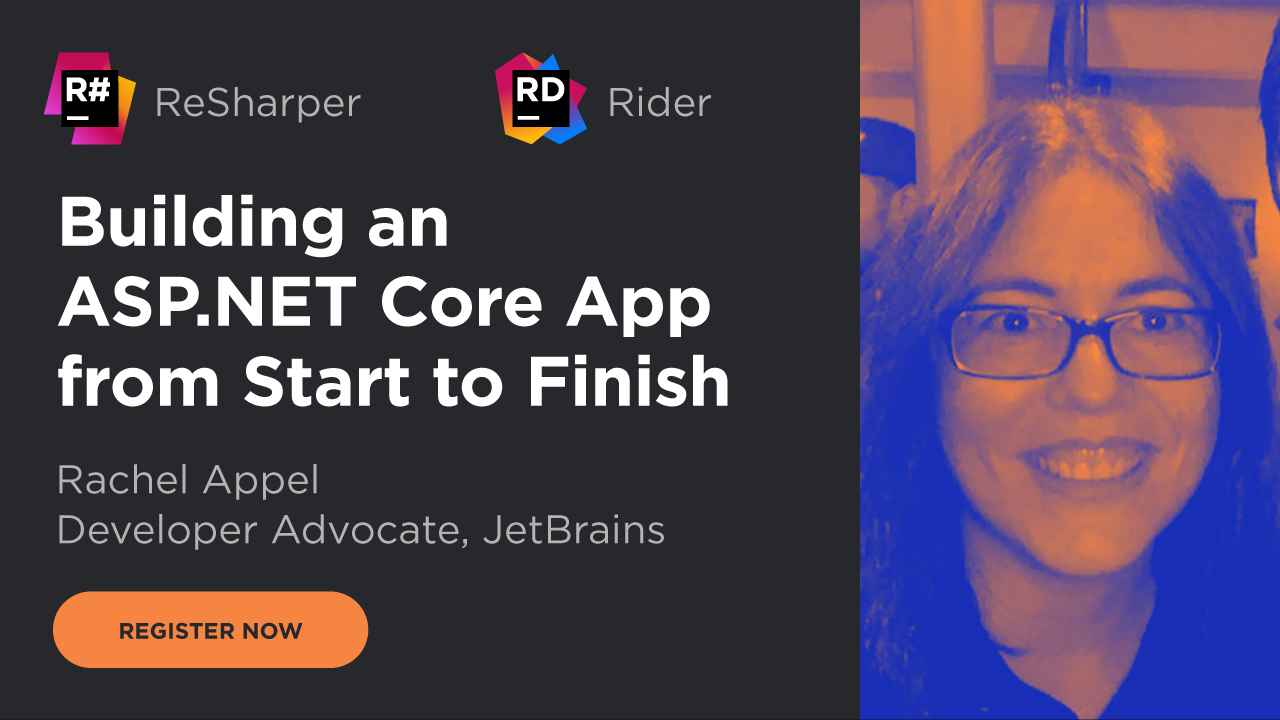 Register now for our free live webinar - 25 November 2019 - Building an ASP.NET Core app from start to finish