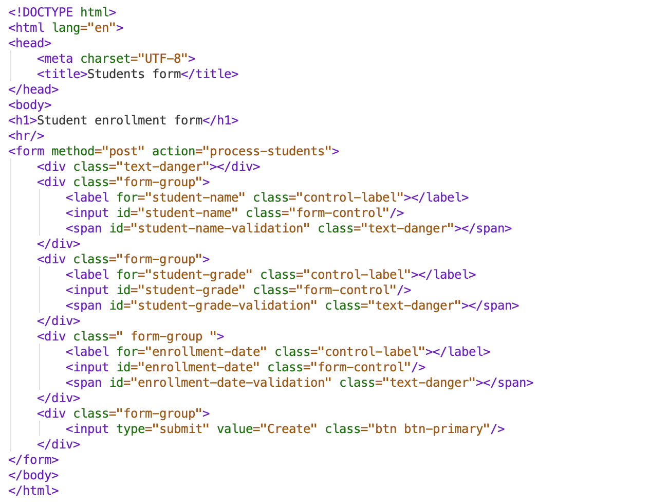 HTML after styling