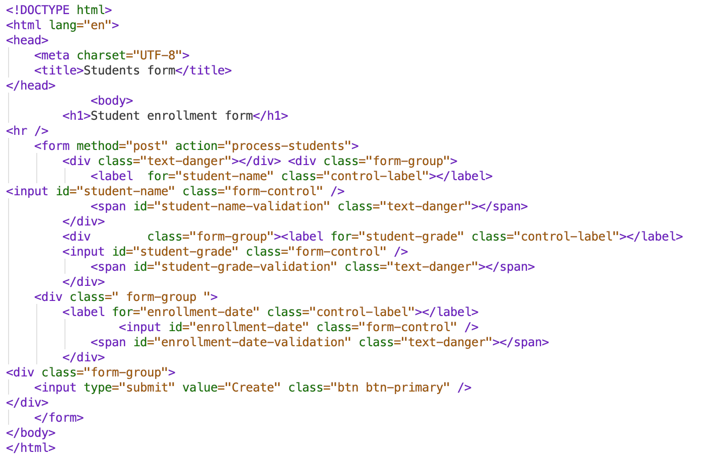 HTML before style