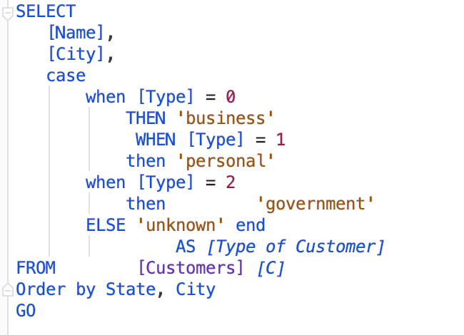 Reformat SQL